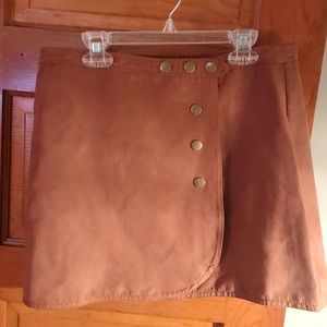 Perfect Fall Front Button Skirt LA Hearts